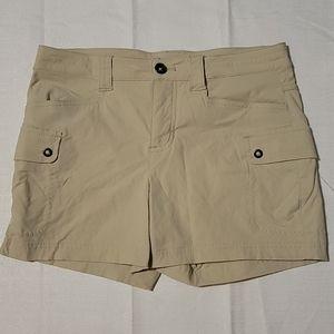 Eddie Bauer Tan Nylon hiking shorts